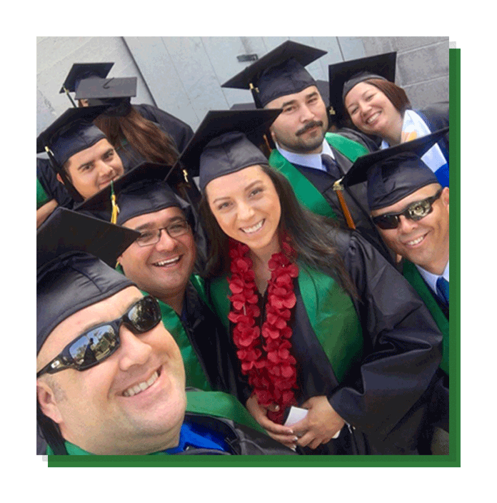 Smiling faces of the California Commencement Ceremony