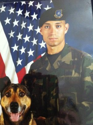 United States Air Force veteran Roy Casillas and his partner Ori