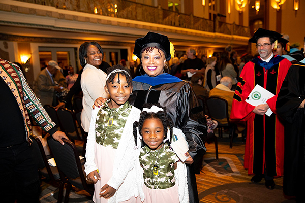 Dr. Rosalyn Brown Betty and her daughters